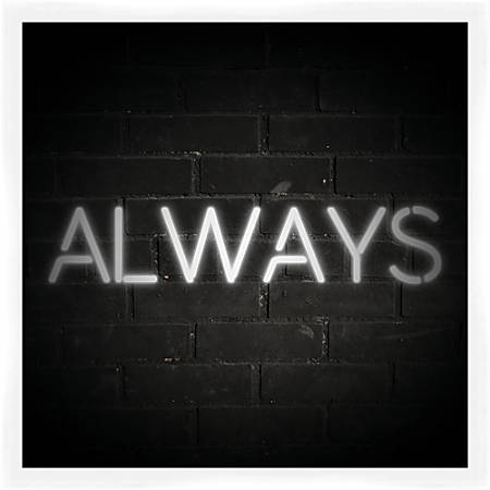 "PTM Images Matted Framed Wall Art, Always, 22""H x 22""W"