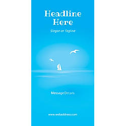 Custom Vertical Banner Blue Beach