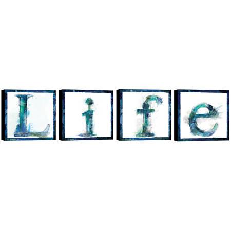 """PTM Images Framed Art, Life, 16""""H x 16""""W, Set Of 4"""