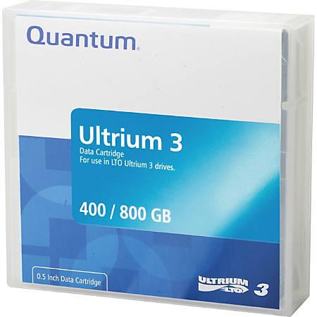 Quantum® LTO Ultrium 3 Data Cartridge, 400GB/800GB