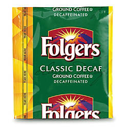 Folgers Classic Roast Decaffeinated Coffee Packs