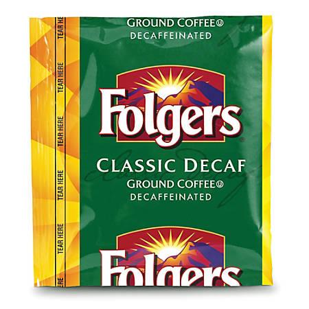 Folgers® Classic Roast Decaffeinated Coffee Packs, 0.9 Oz Bag Of 42