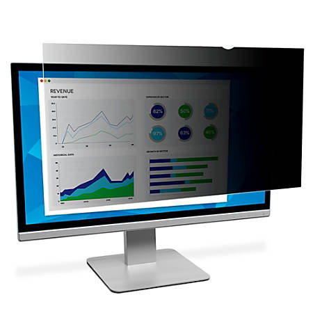 "3M™ Privacy Filter Screen for Monitors, 24"" Widescreen (16:9), Reduces Blue Light, PF240W9B"