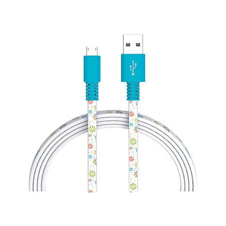 Ativa® Micro Cable, 6', Christmas Lollipop, 42702