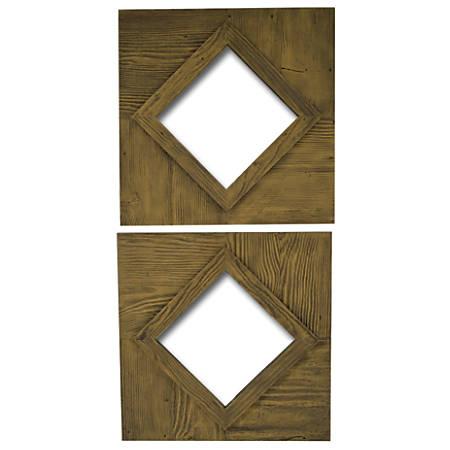 "PTM Images Framed Mirror, Rhombus S/2, 20""H x 20""W, Sand"