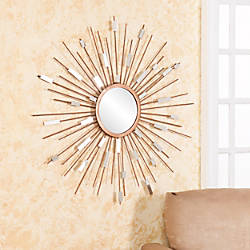 Southern Enterprises Starburst Mirrored Wall Sculpture