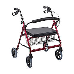 DMI Adjustable Steel Bariatric Rollator With