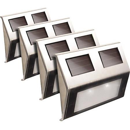 Maxsa Solar-Powered Metal Deck Light - 4 Pack