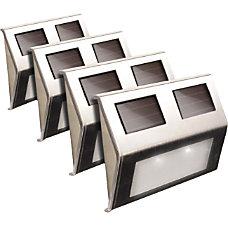 Maxsa Solar Powered Metal Deck Light