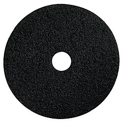 "Impact Products Conventional Floor Stripping Pads - 14"" Diameter - 5/Carton x 14"" Diameter x 1"" Thickness - Fiber - Black"