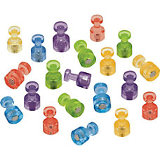 Quartet Assorted Colors Magnetic Pushpins 1