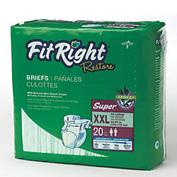 FitRight Restore Briefs XX Large Green