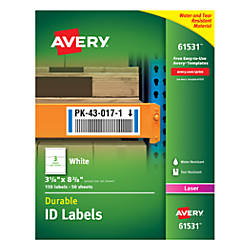 Avery Durable ID Labels With TrueBlock