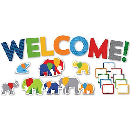 Carson-Dellosa Parade Of Elephants Welcome Mini Bulletin Board Set, Multicolor, Grades Pre-K-5