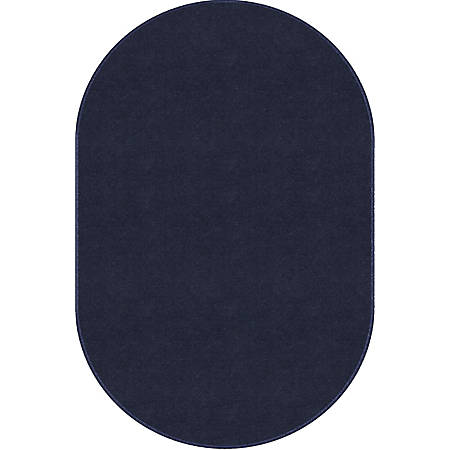 """Flagship Carpets Americolors Area Rug, Oval, 7' 6"""" x 12', Navy"""