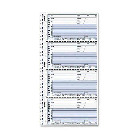 "Rediform Two-Part Self-Stick Message Book, 2-3/4"" x 6"", Black/White, 400 Sheets"