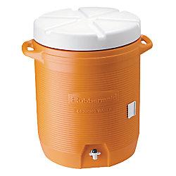 Rubbermaid Water Cooler 5 Gallon Capacity Orange White