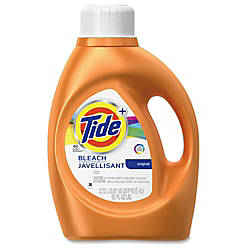 Tide Plus Bleach Lndry Detergent Liquid