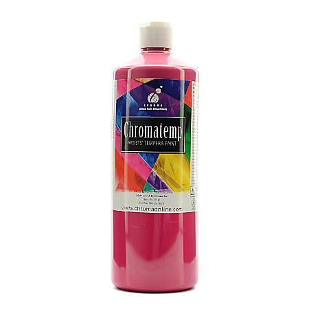 Chroma ChromaTemp Artists' Tempera Paint, 32 Oz, Magenta, Pack Of 2