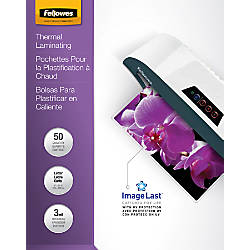 Fellowes ImageLast Laminating Pouches UV Protection