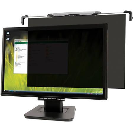 "Kensington® Snap2™ Monitor Privacy Screen Filter, 22"" Widescreen, Black/Silver, K55779WW"