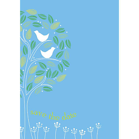 """Custom Save The Date Invitations, 5 1/2"""" x 4 1/4"""", Bright White, Pack Of 10"""