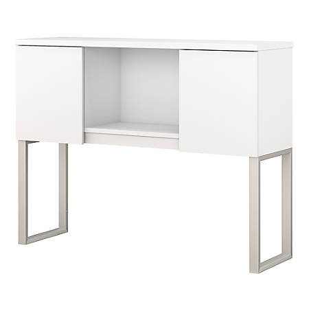 "Bush Business Furniture 400 Series Hutch, 48""W, White, Premium Installation"