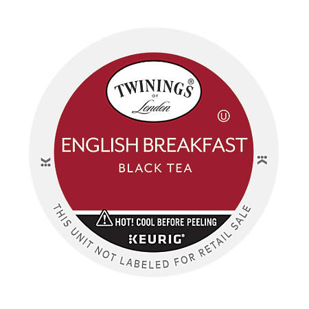 Twinings® English Breakfast Tea K-Cup® Pods, 0.11 Oz, Box Of 24 Pods