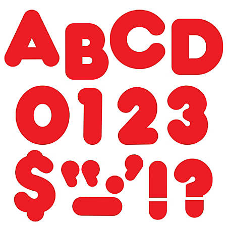 """TREND Ready Letters®, Casual, 3"""", Red, Pre-K - Grade 12, Pack Of 124"""