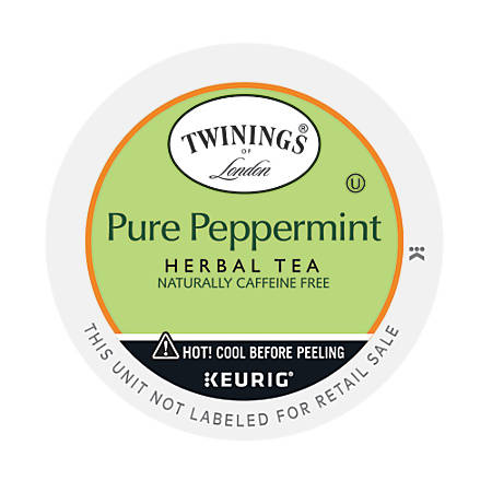 Twinings® Pure Peppermint Tea K-Cups®, 0.11 Oz, Box Of 24