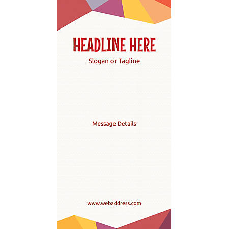 Custom Vertical Display Banner, Abstract Design Theme