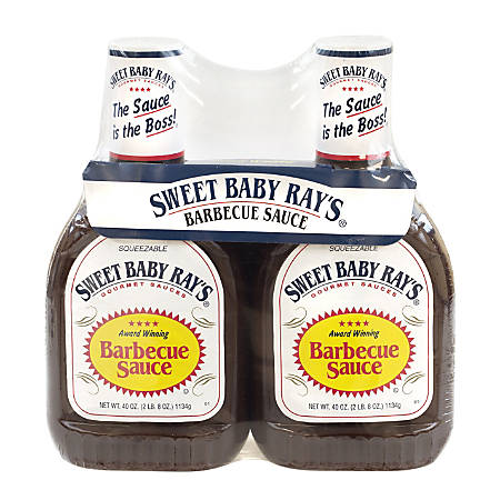 Sweet Baby Ray's Barbecue Sauce, 40 Oz Bottle, Pack Of 2