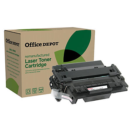 Office Depot® Brand OD55EHY (HP CE255A) Remanufactured Extended High-Yield Black Toner Cartridge