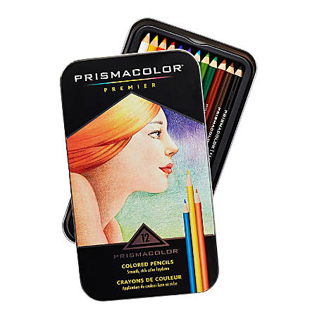 Prismacolor® Professional Thick Lead Art Pencils, Assorted Colors, Set Of 12 Pencils