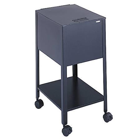 Safco® Mobile Steel Tub File, Letter Size, Black