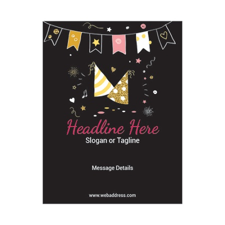 custom flyers vertical birthday cap and bunting by office depot
