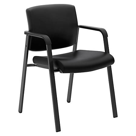 basyx by HON® Leather Mid-Back Chair, Black