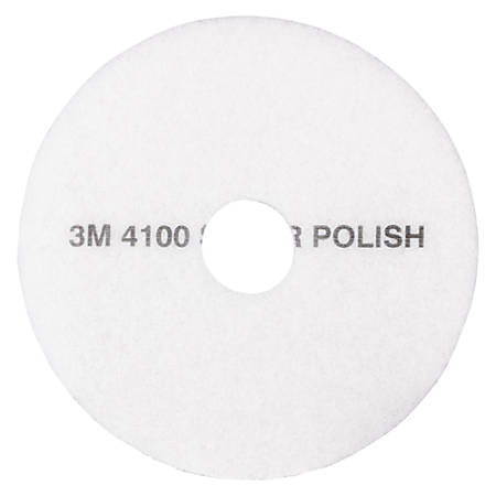 "3M™ 4100 Super Polishing Floor Pads, 21"" Dia, Pack Of 5"