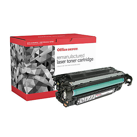 Office Depot® Brand CTGM551BX (HP CE400X) Remanufactured High-Yield Black Toner Cartridge