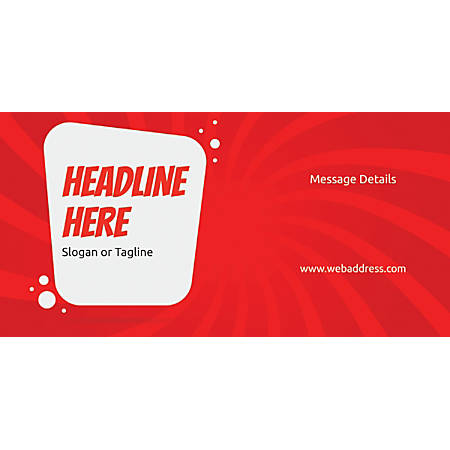 Custom Horizontal Banner, Red Spin Wave