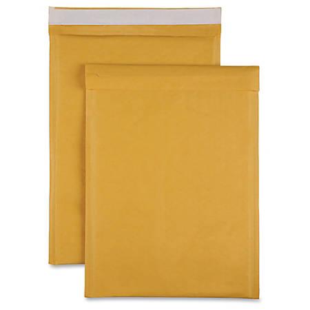 "Sparco Size 5 Bubble Cushioned Mailers - Bubble - #5 - 10 1/2"" Width x 16"" Length - Self-sealing - Kraft - 100 / Carton - Kraft"
