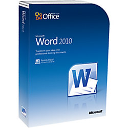 Microsoft Word 2010 Home And Student Complete Product 3 Pc In One Household
