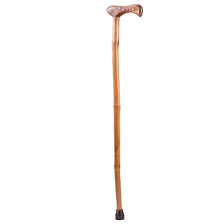 """Brazos Walking Sticks™ Free Form Iron Bamboo Walking Cane, 37"""", Red"""