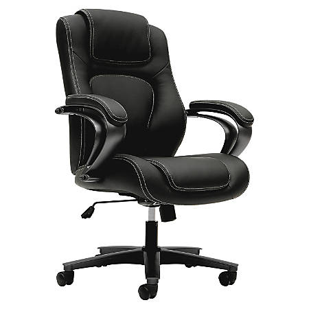 basyx by HON® High-Back Chair With Padded Arm Rests, Black