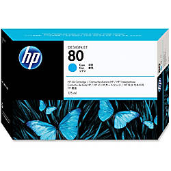 HP 80 Cyan Ink Cartridge C4872A