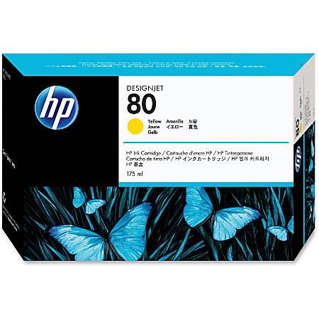 HP 80, Yellow Ink Cartridge (C4873A)