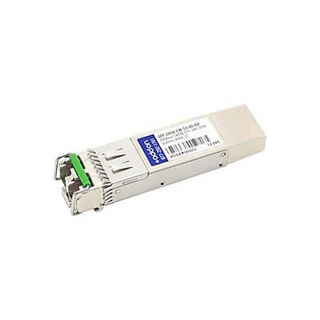 AddOn MSA and TAA Compliant 10GBase-CWDM SFP+ Transceiver (SMF, 1530nm, 80km, LC, DOM)