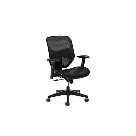 HON® Prominent Mesh-Back Task Chair, Black