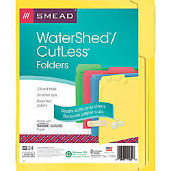 Smead WaterShed CutLess File Folders Letter