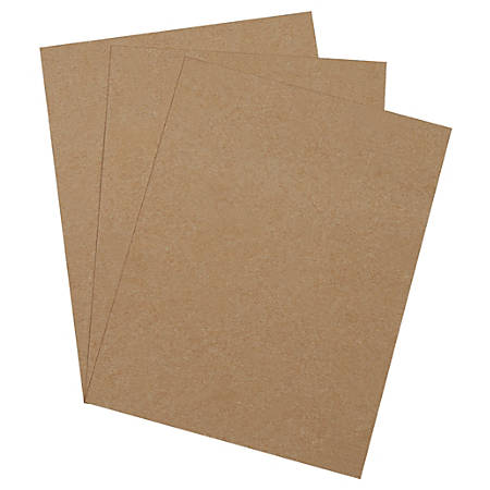 "Office Depot® Brand Heavy-Duty Chipboard Pads, 8 1/2"" x 11"", 100% Recycled, Kraft, Case Of 750"